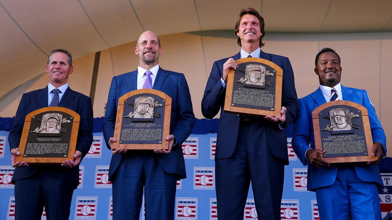Fueron inmortalizados Pedro Martínez, John Smoltz, Randy Johnson y Craig Biggio