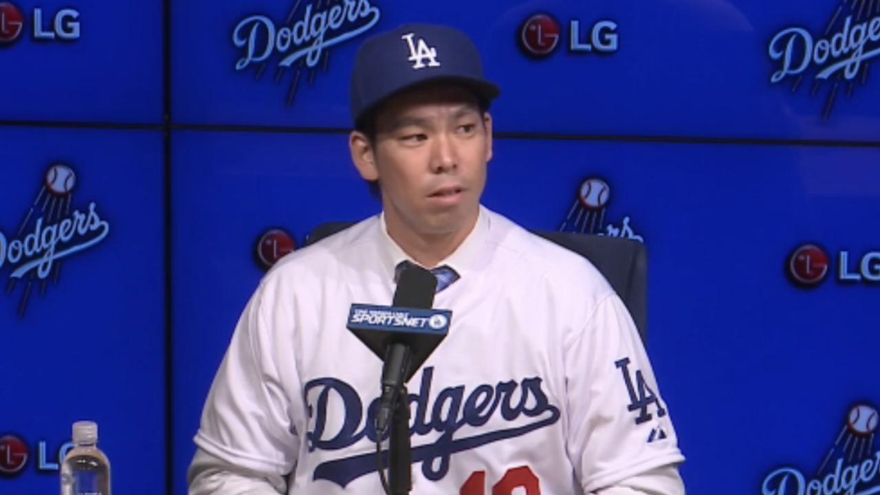 Los Dodgers presentaron oficialmente a Kenta Maeda