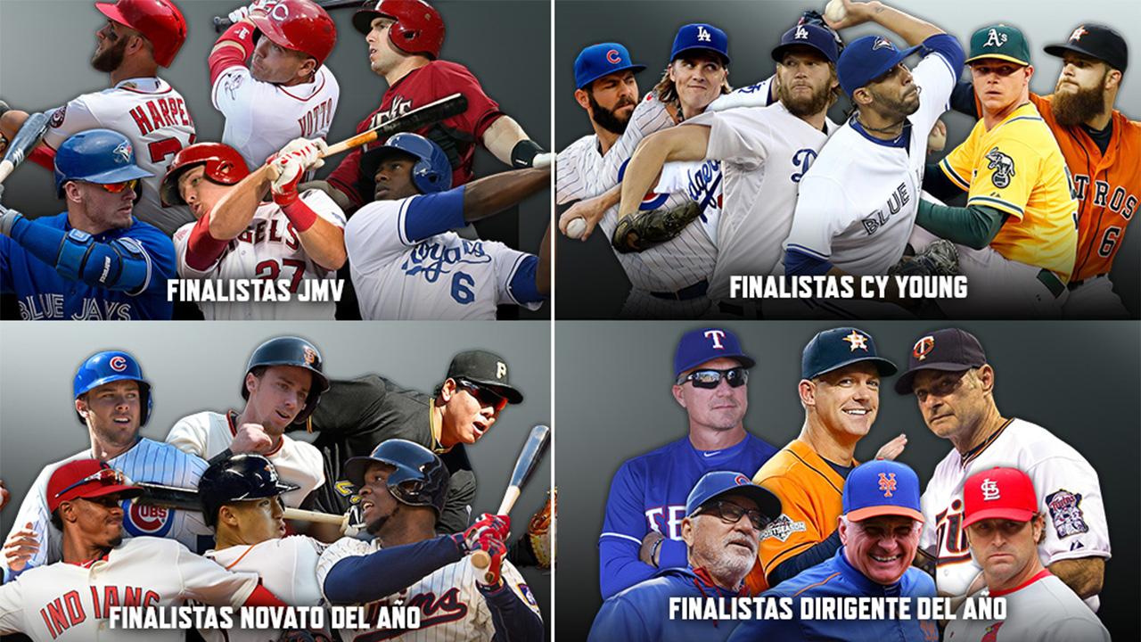 Los finalistas para los premios principales de MLB