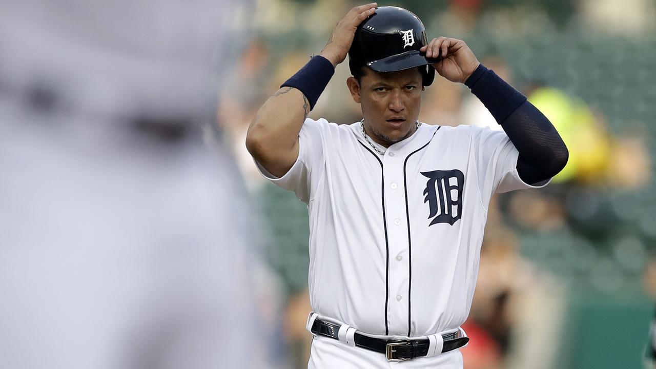 Miguel Cabrera perdería de dos a tres días por distensión en el costado izquierdo