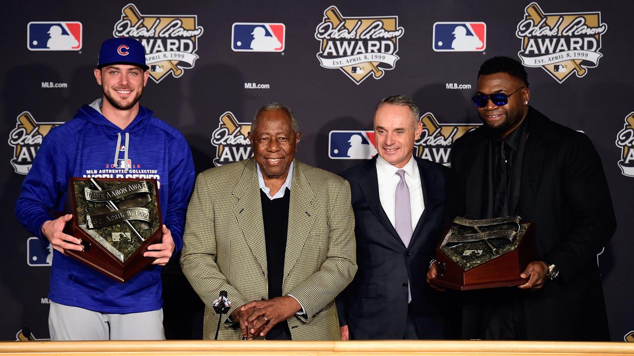 David Ortiz y Kris Bryant ganan el Premio Hank Aaron del 2016