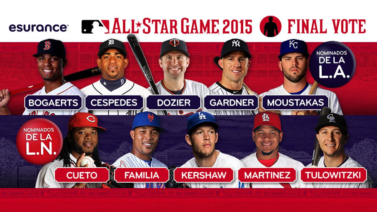 Voto Final: Elige a los últimos dos para el Juego de Estrellas